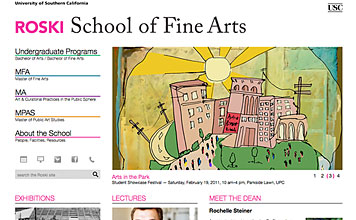 USC Roski School of Fine Arts screenshot