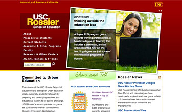 USC Rossier School of Education screenshot
