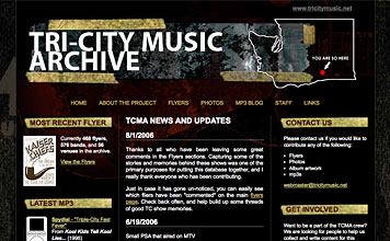 Tri-city Music Archive screenshot