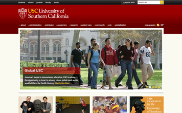 USC Homepage screenshot